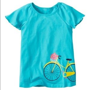 Hanna Andersson girls bicycle tee